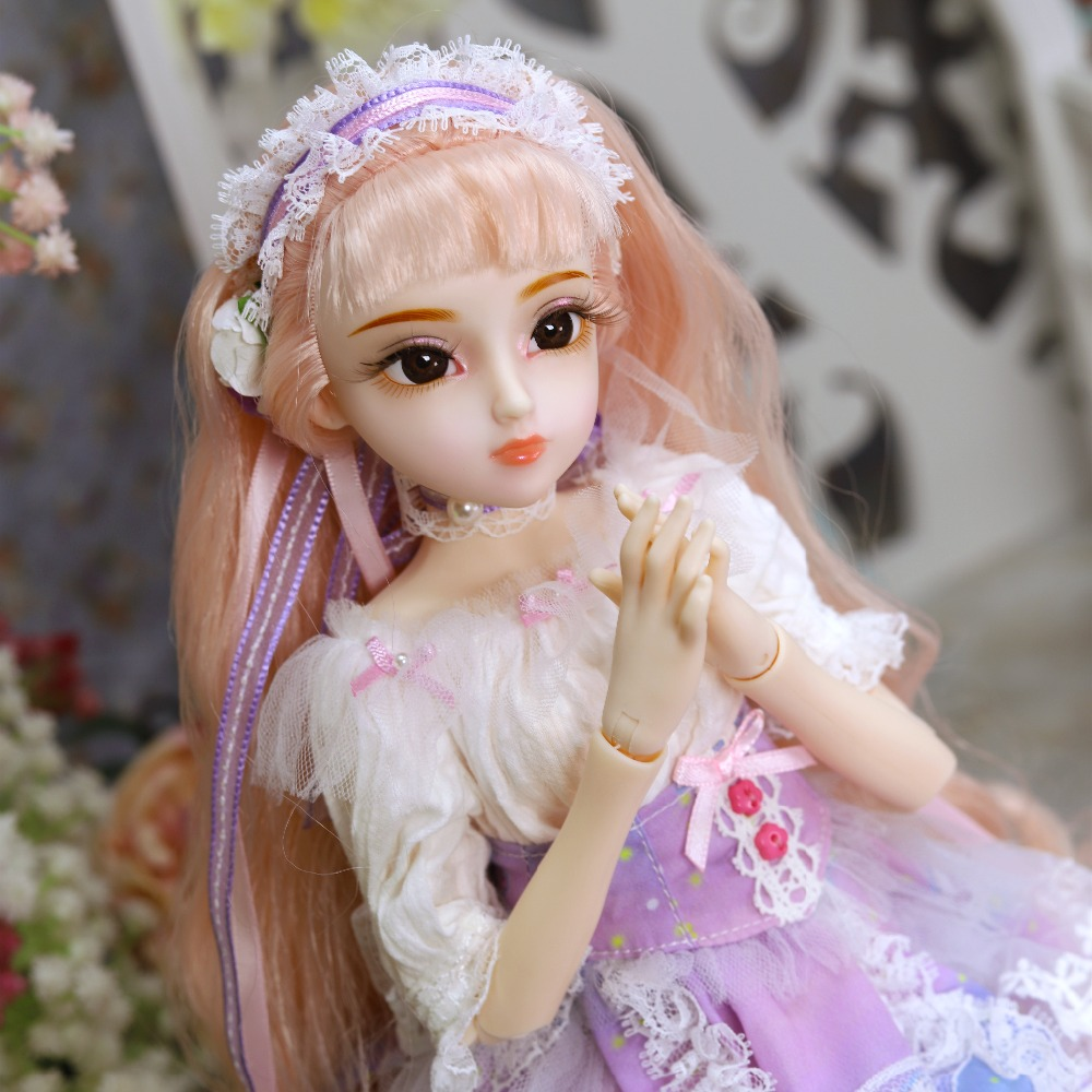 DQ bjd 45cm Diary Queen 1 4 bjd doll clothes shoes headdress handsets joint body white