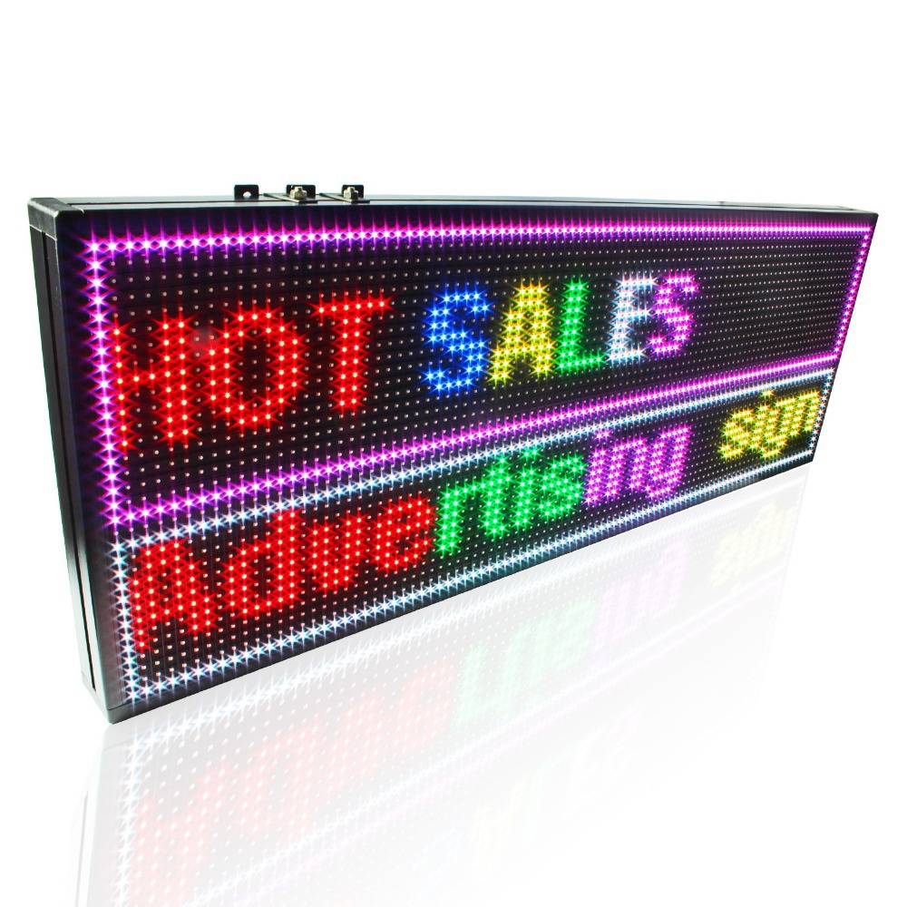 Image 2 - 135*71cm P5 Outdoor High Brightness RGB Full color video Led display board LAN input SMD Led waterproof signboard-in LED Displays from Electronic Components & Supplies
