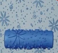 5 polegada rolo de borracha 3d rolo pintura da parede  rolo azul  frete grátis  031yb  padrão design impressão rolo sem alça|Conjs. ferramentas de pintura| |  -