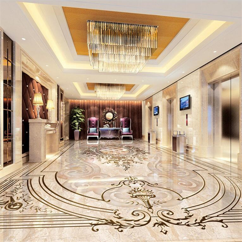 beibehang Custom flooring 3d high-end European style jade relief 3D living room bedroom shopping flooring tiles papel de parede free shipping river stone waterfalls 3d floor tiles wear non slip moisture proof bedroom living room kitchen flooring mural