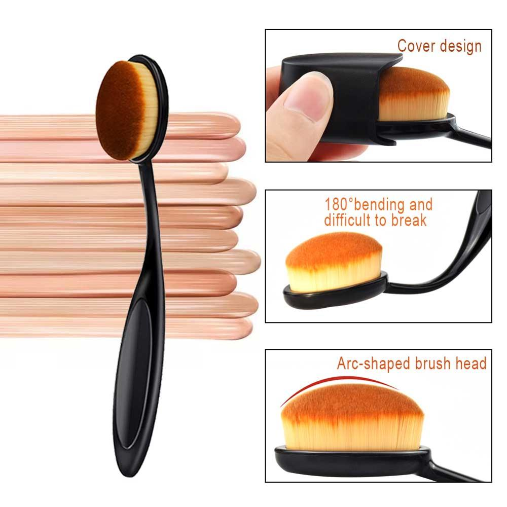 Foundation Powder Brush Toothbrush Shape Concealer Makeup Brushes BB Cream Liquid Brochas Maquillaje Cosmetic Beauty fırça seti image