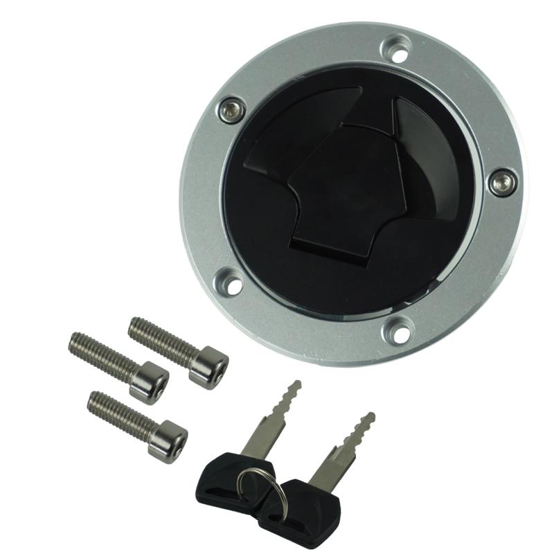 CNC Aluminum Motorcycle Fuel Gas Tank Cap Cover Keys For Kawasaki Ninja ZX6R ZX600 ZX636 ZX10R ZX14R ABS 07-15