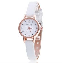 2017 Female Models Fashion Thin Belt Rhinestone Belt Watch PU leather Casual Bracelet Watch Wristwatch Hot Sale Women Watches 3*
