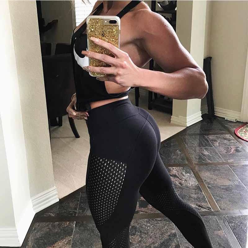 6daa052b860 2018 New Quick-drying Yarn Leggings Fashion Ankle-Length Legging ...