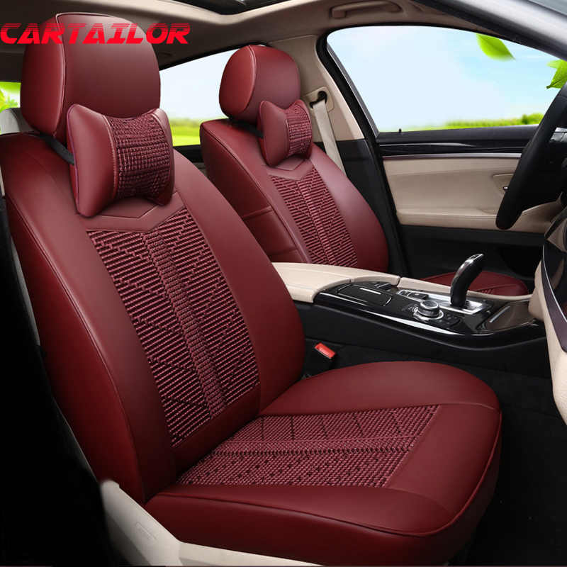 Cartailor Red Leather Car Seat Cover