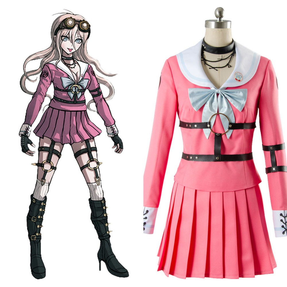 Danganronpa V3 Cosplay Costume Killing Harmony-Iruma miu Dress Cosplay Costume Halloween Adult
