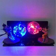ドラゴンボールフィギュア AC 110 ボルト/220 ボルト LED テーブルランプオプション照明色交換可能な電球漫画モデル夜の光