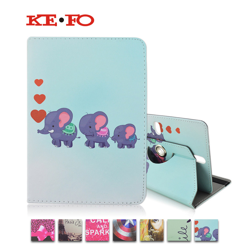 360 Rotating PU Leather Stand Cover Case For Samsung Galaxy Tab 2 Tab3 T110 T111 T230 T210 Universal 7.0 inch Tablet bags M4A92D