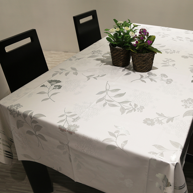 PVC Pastoral Style Table Cloth Waterproof Oil Proof Non Wash Table Cloth Printed Table Cover for Home Wedding/Party Decoration