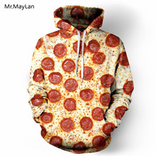 Mr.MayLan New Spring Autumn Fashion Men/Women Hoodies 3D Full Printed Pizza Men Sweatshirt Hooded Tracksuits Clothing