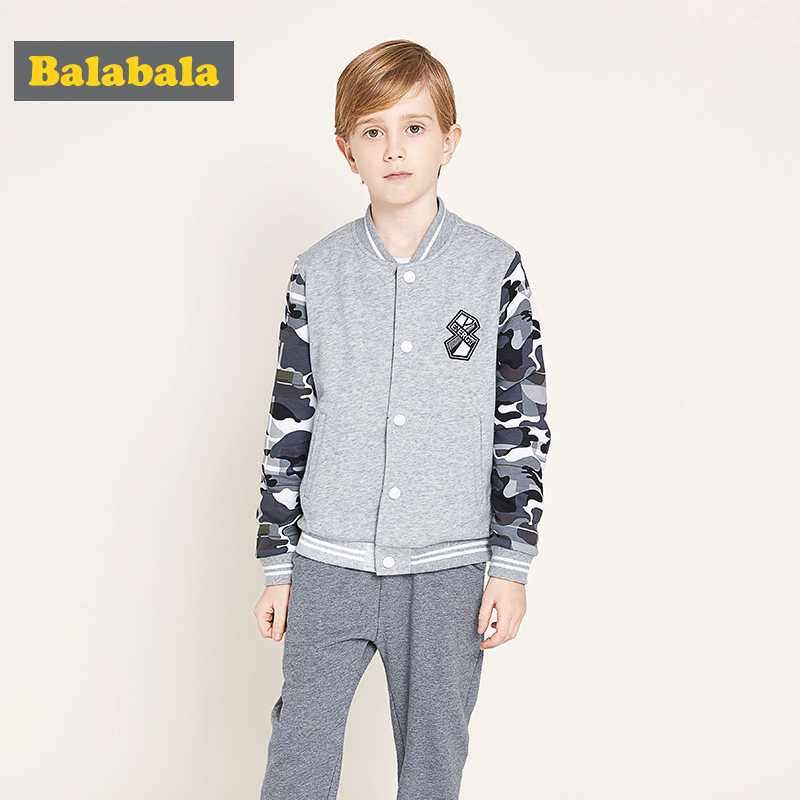 balabala causal Toddler Boys Clothes set Cotton baseball Sport Suit kid Clothing Sets Children v-neck jacket+pants for spring balabala spring children boys tracksuit clothing set brand causal kids sports suit tracksuits hoodies pants baby boys clothes se