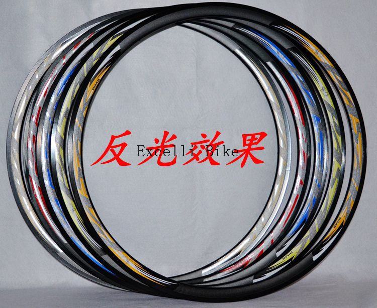 700C Road Bicycles Rims double aluminum alloy V brake 20/24 holes F/V matte rims reflective label 1Set2units 631mm/30mm 5colors