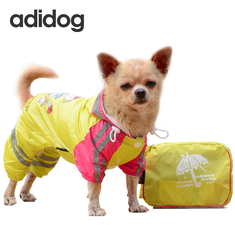 Dog Raincoat Waterproof Hooded Pet Dog Clothes Rain Coat Pattern Cloak For Small medium Puppy Pet Rainy XS XXL with hood PETASIA