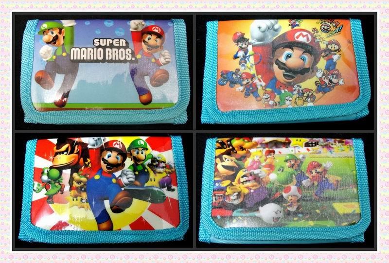 12Pcs Super Mario Purses Money Bag Kawaii Bag Coin Pouch Children Purse Small Wallet Party Supplies Gift