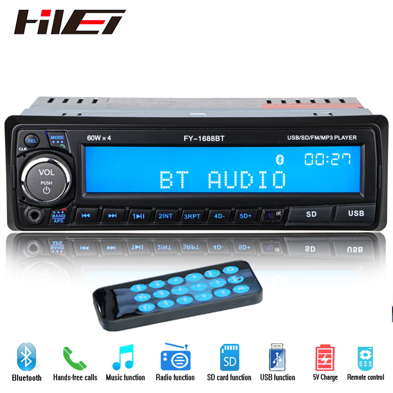 buy new 12v bluetooth car radio player stereo fm mp3 usb sd aux audio auto. Black Bedroom Furniture Sets. Home Design Ideas
