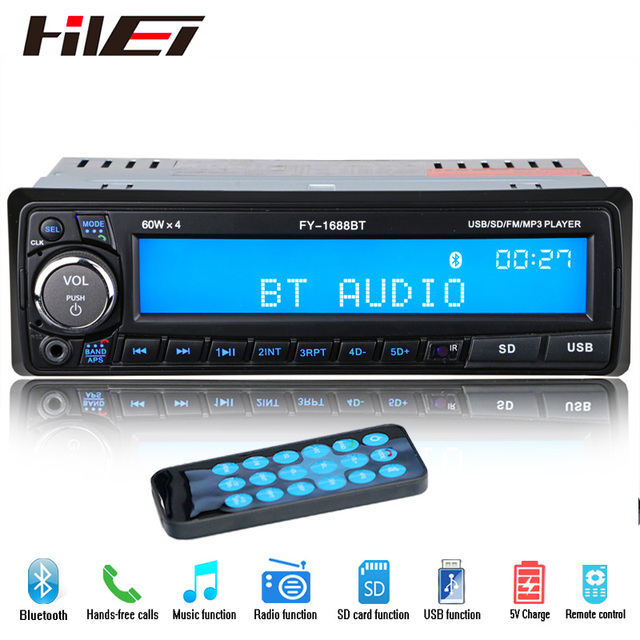 NEW 12V Bluetooth Car Radio Player Stereo FM MP3 USB SD AUX Audio Auto Electronics autoradio 1 DIN oto teypleri radio para carro