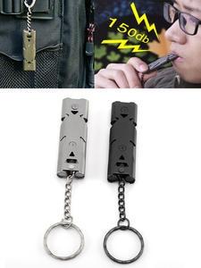 Survival Whistle Keychain Multi-Tool Stainless-Steel Outdoor Cheerleading High-Decibel