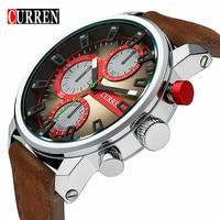 Curren New Men Watches Military Leather Wristwatch Men S Quartz Sport Watches Relogio Masculino Free Shipping