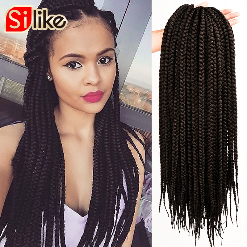 Crochet Box Braids Packs : pack Pretwist 3S Crochet Box Braids Hair Extensions 12 18 22 Croche...