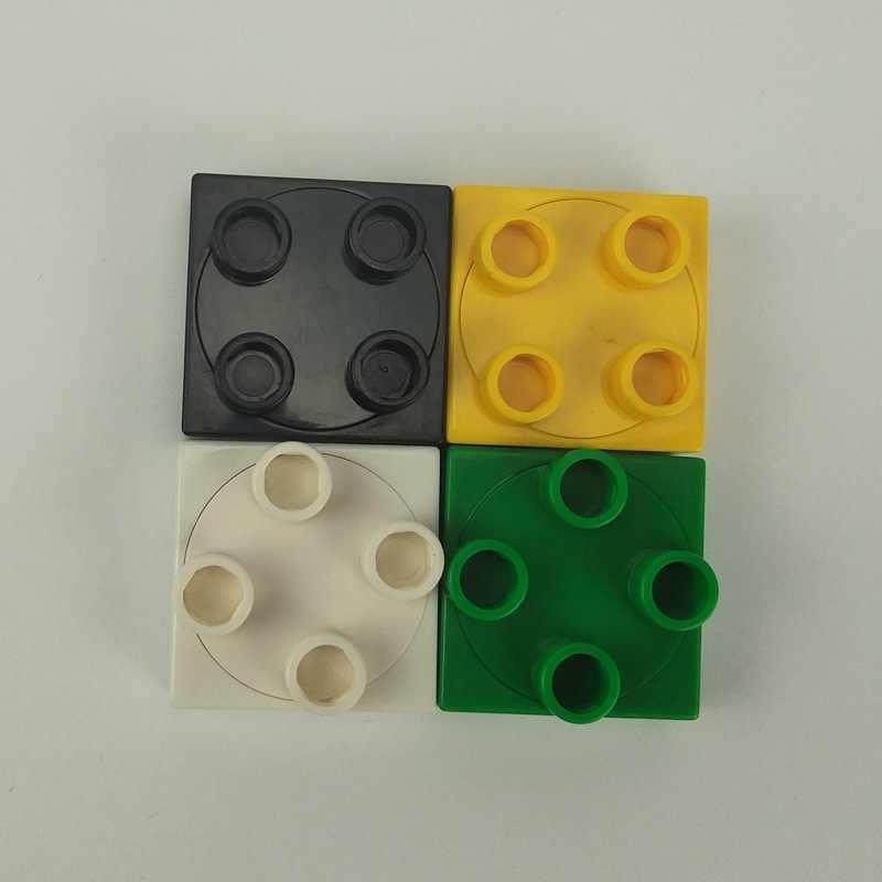 クリエーターデュプロヒンジプレートスイベルトップビルディングブロック部品クリエイティブおもちゃ子供教育互換 Duploe キットセットギフト