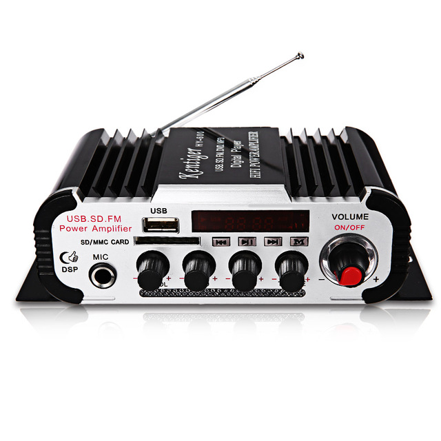 Best Price Kentiger HY - 600 HiFi Car Stereo Power Amplifiers IR Control FM MP3 USB Playback Digital Audio Amplifier