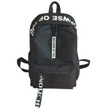 2018 amasie Унисекс Рюкзак Книга сумка Повседневная Ежедневно чемоданчик sac dos нейлон Письмо печати мужчины рюкзак EGT9005