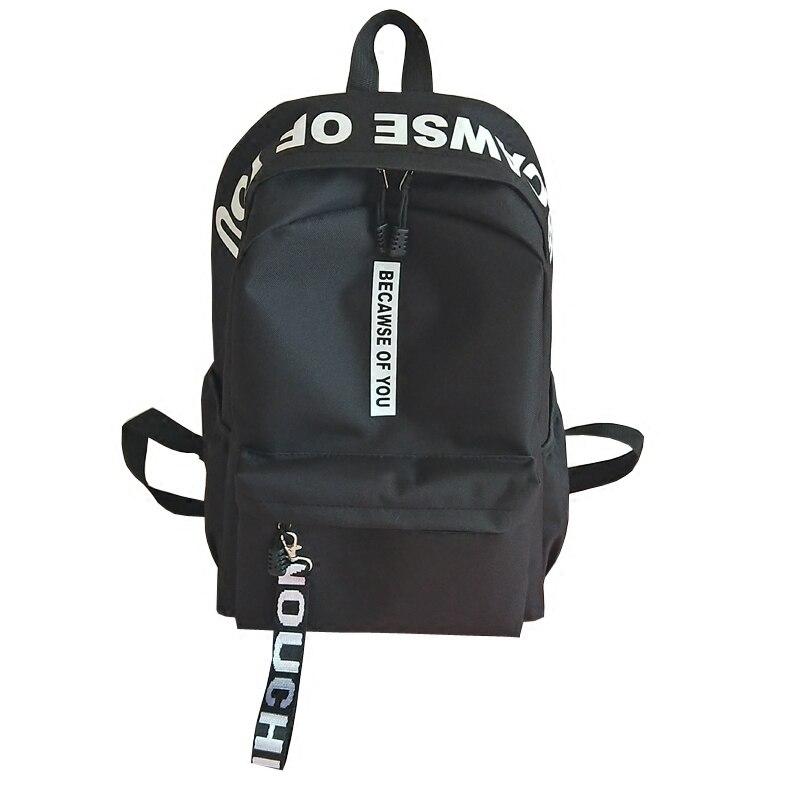 2018 Amasie unisexe sac à dos livre sac de causalité quotidienne sac pack sac à dos En Nylon lettre impression hommes sac à dos EGT9005