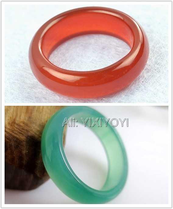 ขายส่ง 10 pc จำนวนมาก 6 มม. ธรรมชาติสีเขียวสีแดงสีเหลืองสีขาวหยกแหวนผู้หญิงผู้ชาย Lucky แหวน 7-9 # Charm เครื่องประดับของขวัญ