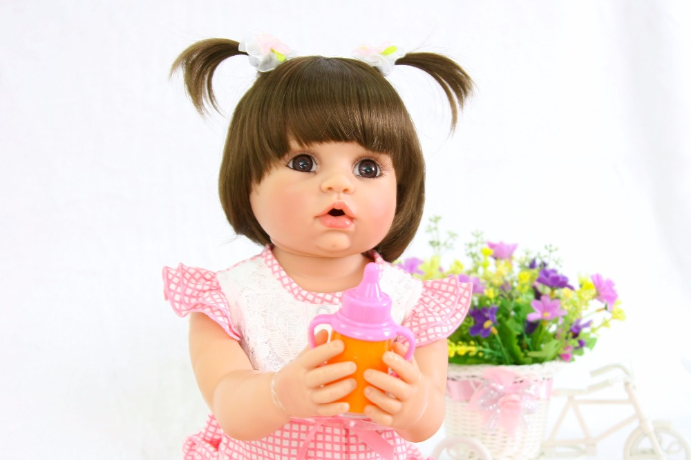 55cm Full Body Silicone Reborn Baby Doll For Girls Vinyl Newborn Princess Babies Doll Birthday Gift Child Bathe Play House Toy 40cm full body silicone vinyl reborn baby doll 16inch newborn girls babies doll bath toy child birthday gift present child play