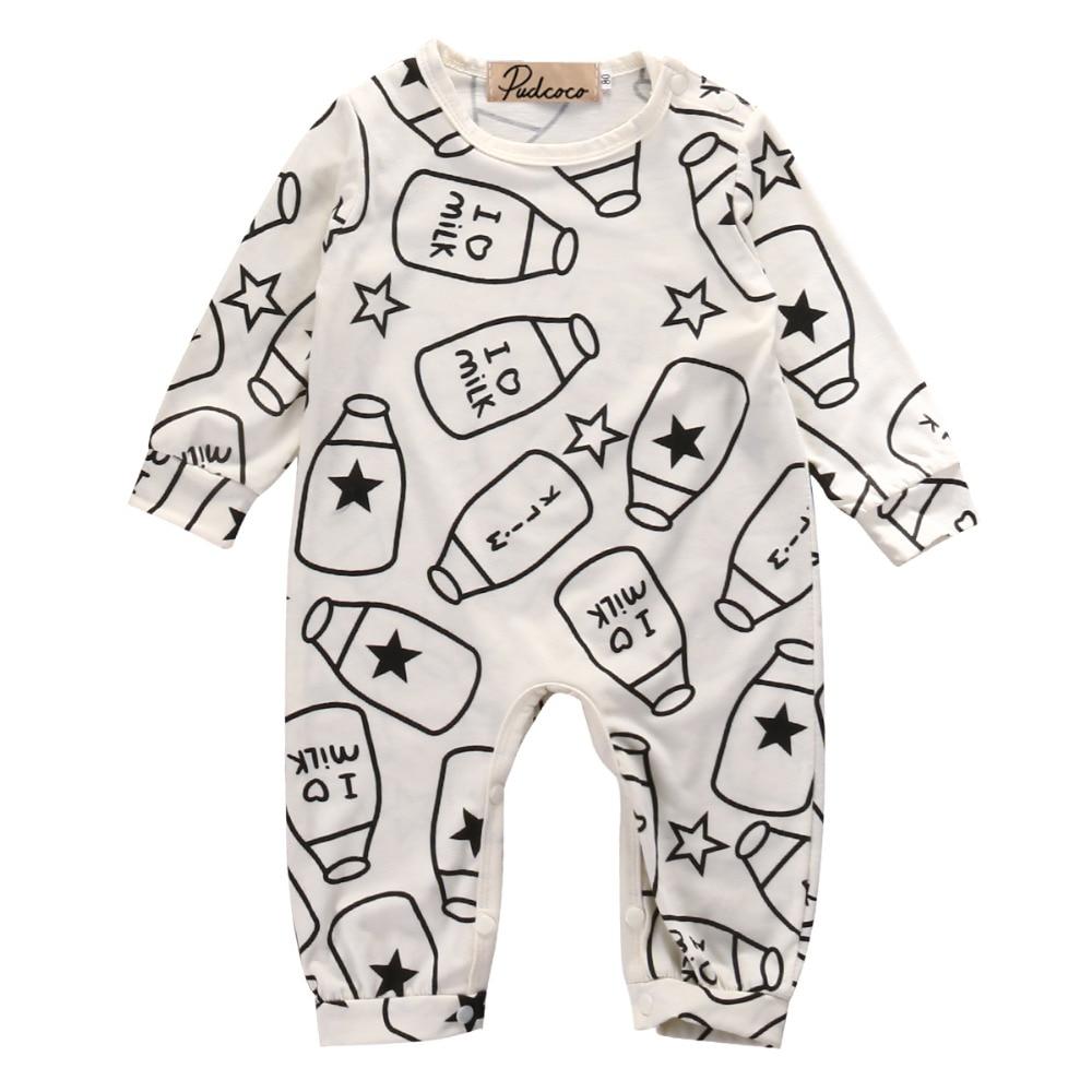 Newborn Baby Boys Girls Kids Clothes Bodysuit Jumpsuit Cotton Outfits Sets