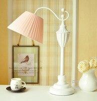 Ресторан светодио дный настольные лампы постоянный свет с цветной абажур столовая скандинавский арт деко настольная лампа для чтения
