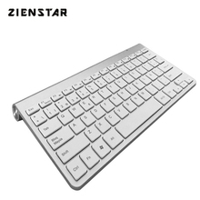 Zienstar Spanish Language Ultra slim 2 4G Wireless Teclado for Macbook PC computer Laptop Smart TV