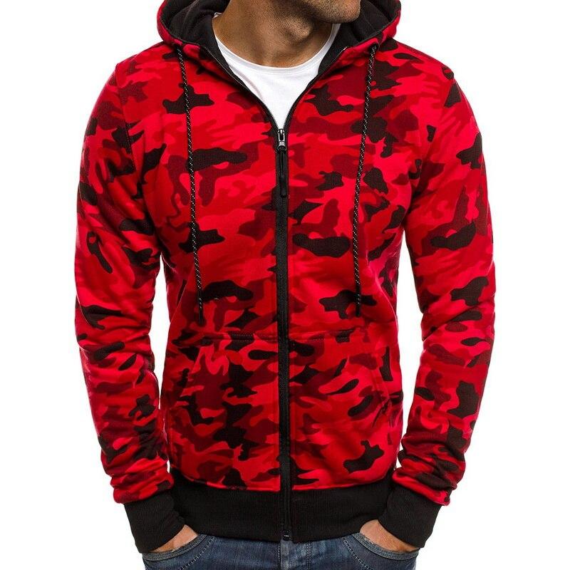 CYSINCOS Camouflage Hoodies Men  New Fashion Sweatshirt