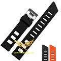 2016 watches men High quality Black Orange rubber strap 20MM Watchband watch clock, watchbands men's watch strap