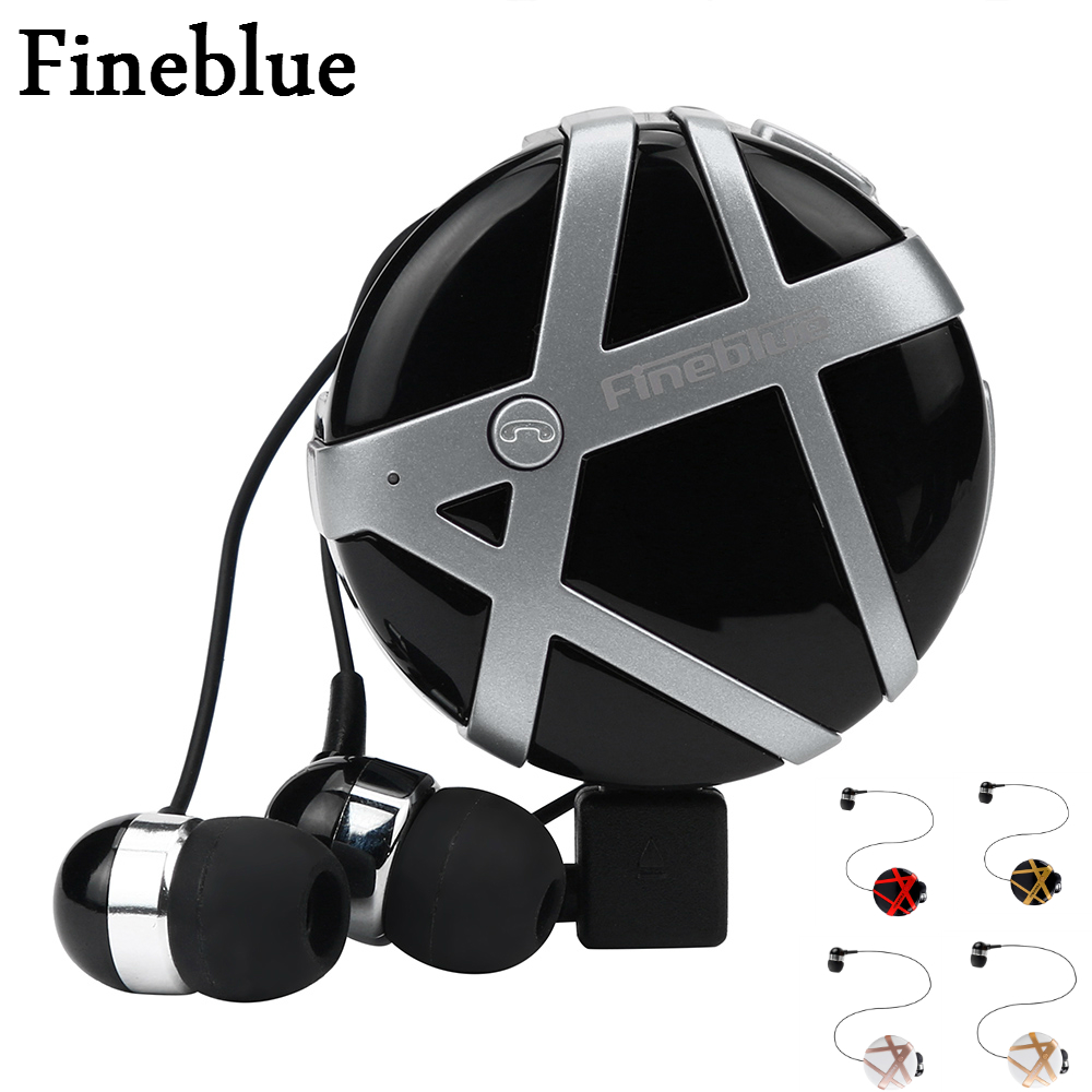 Fineblue FD-55 Wireless Bluetooth Headset Calls Remind Vibration Wear Portable Collar Clip Headset In-ear wireless Earphone wireless bluetooth earphone fineblue f sx2 calls remind vibration headset with car charger for iphone samsung handfree call