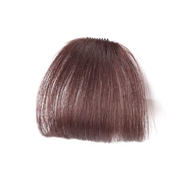 Clip de frange de fausse Blonde brune noire de 8 couleurs dans des prolongements de cheveux de frange avec la Fiber synthétique à hautes températures