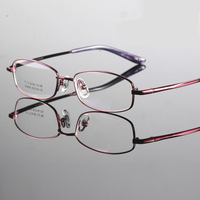 Viodream high quality brand women style Titanium glasses myopia frame optics eyeglasses titanium frame radiation resistant