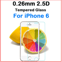 For iPhone 6/6s 3pcs bulk Newest 2.5D Border Round Angle explosionproof 9H hardness Tempered glass screen protector film guard