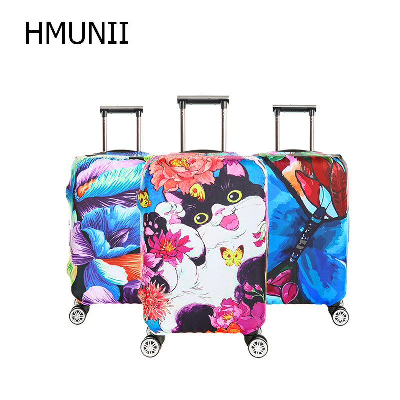 HMUNII Brand New Colorful Luggage Protective Cover For 18 to 32 inch Trolley suitcase Elastic Dust Bags Case Travel Accessories