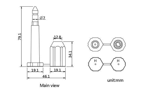 cabo de stell do recipiente das cores mistura 7 03
