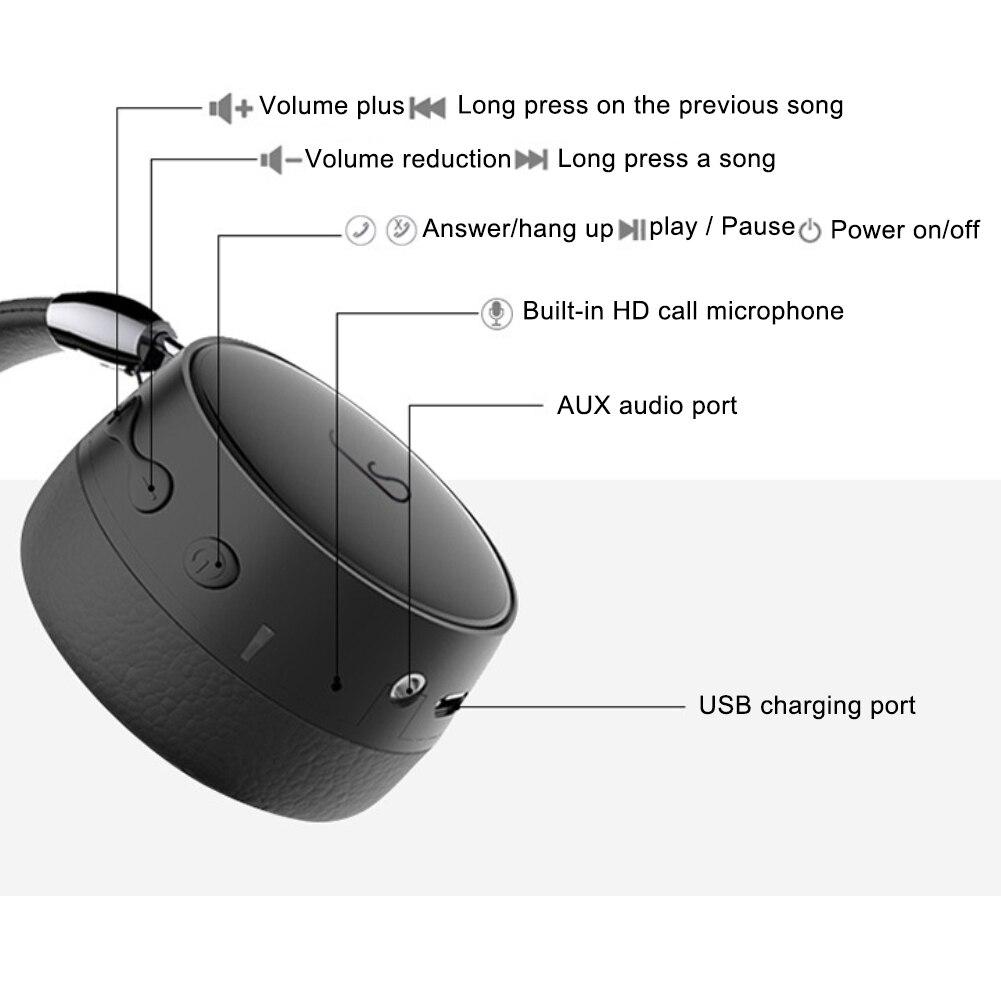 E95 Fashion LED Deep Bass New Bluetooth Wireless Headphone Stereo Music  Headset