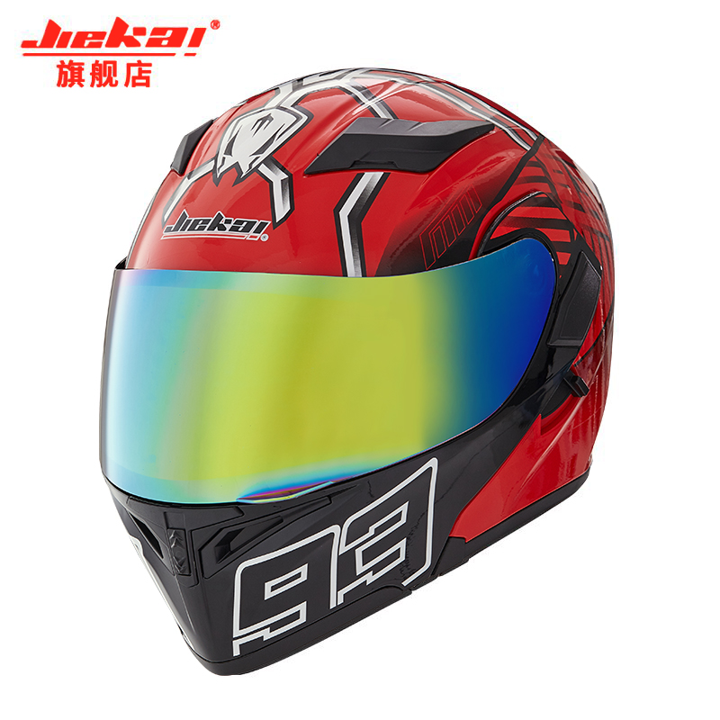 Hot sale JIEKAI Flip Up Motorcycle Helmet Modular Moto Helmet With Inner Sun Visor Safety Double
