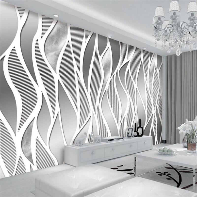 beibehang Custom Wallpaper European High End Metal Gray ...
