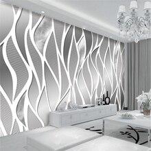 beibehang Custom Wallpaper European High-End Metal Gray Mural Dream Garden TV Wall Background walls 3d wallpaper papel de parede