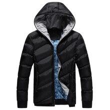 Мужчины досуг хлопка-мягкие одежды Ветровки пальто Зима теплая Куртка с капюшоном Моды для Мужчин Толщиной Тонкий Вскользь Пальто Высокого Качества