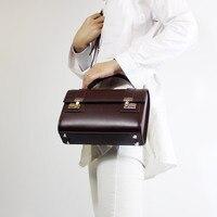 Дизайнера уникальный дизайн Винтаж Для женщин чёрный; коричневый Сумки леди Корова кожа Сумка большой бренд Стиль сумки OL
