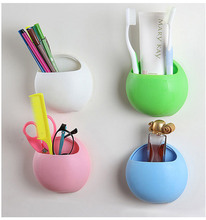 купить 1PC Bathroom Accessories Toothbrush Holder Wall Suction Cups Shower Holder Cute Sucker Toothbrush Holder Suction Hooks OK 0926 дешево