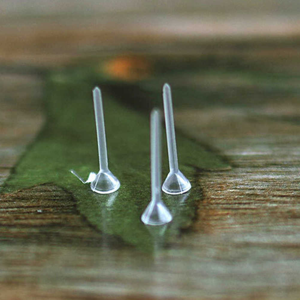 Mini pino fixo para decoração, miniacessórios de decoração para casa, pino fixo para jardim das fadas em terrários de resina