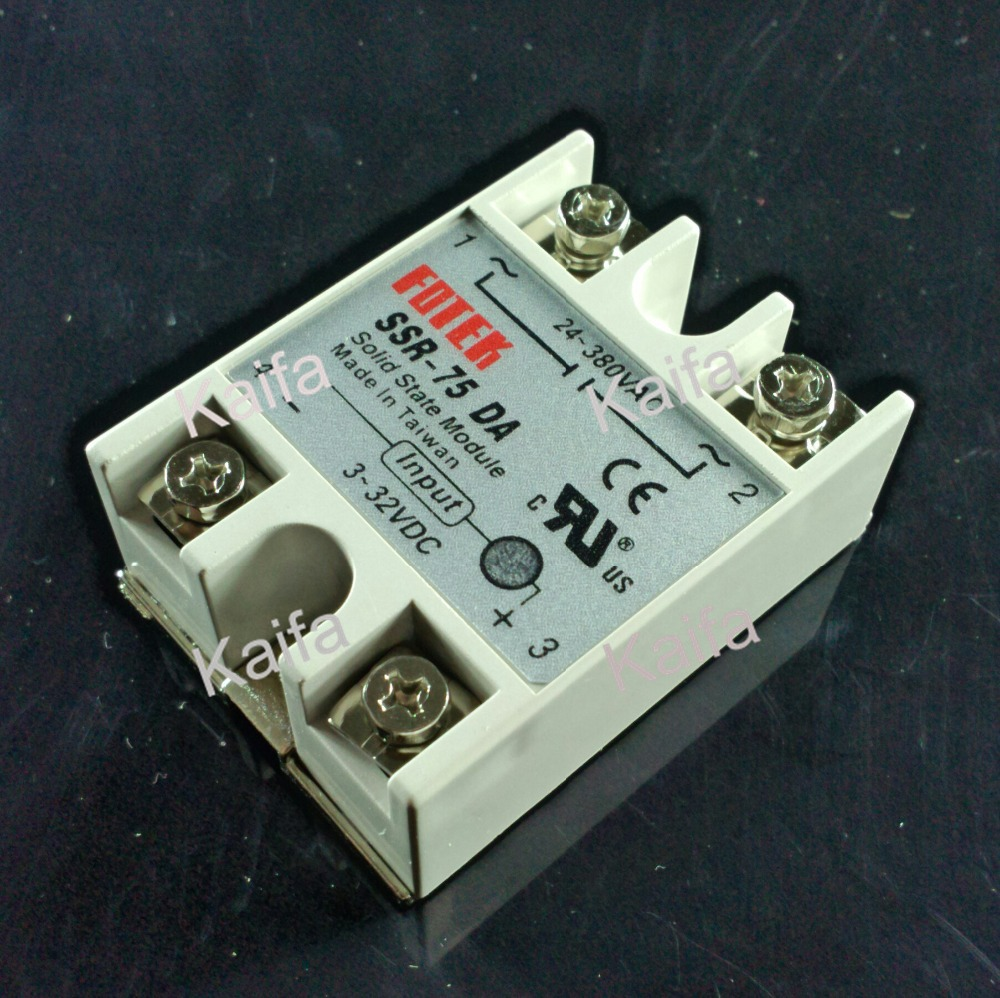 solid state relay SSR-75DA 75A 3-32V DC TO 24-380V AC SSR 75DA relay solid state solid state relay ssr 10da ssr 25da ssr 40da 10a 25a 40a actually 3 32v dc to 24 380v ac ssr 10da 25da 40da high quality new