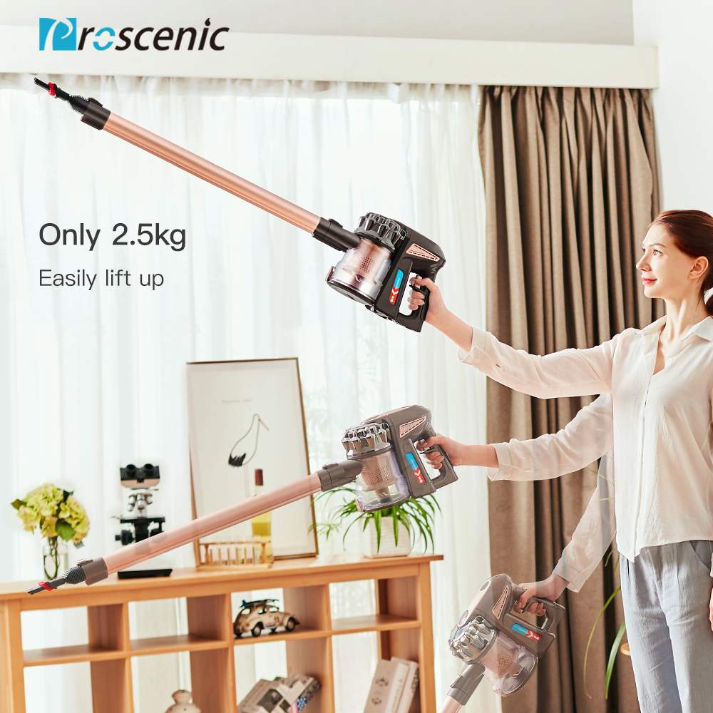 Proscenic P8 plus Ultra Quiet Vacuum Cleaner Upright  Vertical/HandHeld Vacuum Cleaners Aspirator 15000Pa Strong Power For Home